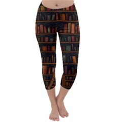 Books Library Capri Winter Leggings