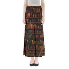 Books Library Full Length Maxi Skirt