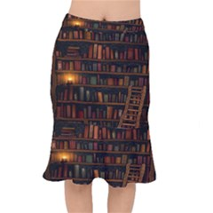 Books Library Mermaid Skirt