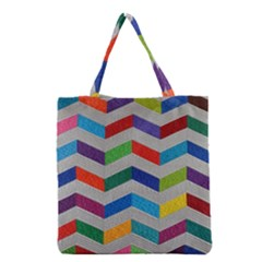 Charming Chevrons Quilt Grocery Tote Bag
