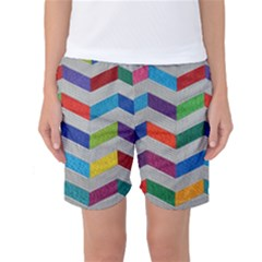 Charming Chevrons Quilt Women s Basketball Shorts