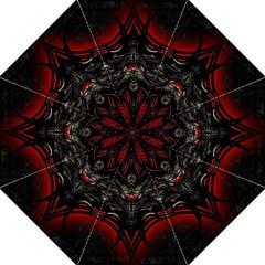 Black Dragon Grunge Folding Umbrellas