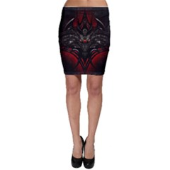 Black Dragon Grunge Bodycon Skirt