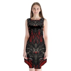 Black Dragon Grunge Sleeveless Chiffon Dress