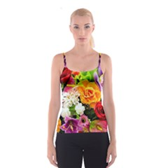 Colorful Flowers Spaghetti Strap Top