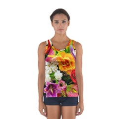 Colorful Flowers Sport Tank Top