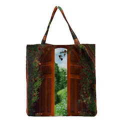 Beautiful World Entry Door Fantasy Grocery Tote Bag by BangZart