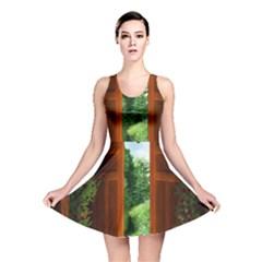 Beautiful World Entry Door Fantasy Reversible Skater Dress