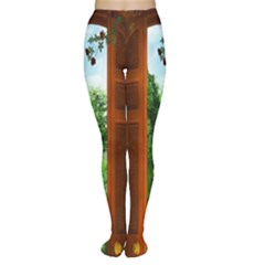 Beautiful World Entry Door Fantasy Women s Tights