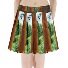 Beautiful World Entry Door Fantasy Pleated Mini Skirt