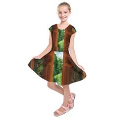 Beautiful World Entry Door Fantasy Kids  Short Sleeve Dress