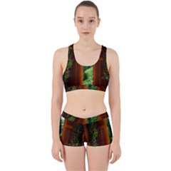 Beautiful World Entry Door Fantasy Work It Out Sports Bra Set