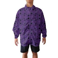Triangle Knot Purple And Black Fabric Wind Breaker (kids)