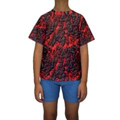 Volcanic Textures  Kids  Short Sleeve Swimwear