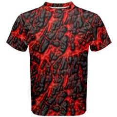 Volcanic Textures  Men s Cotton Tee