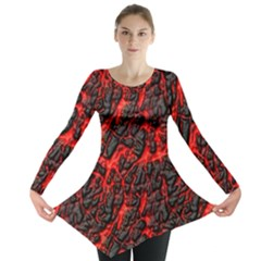 Volcanic Textures  Long Sleeve Tunic