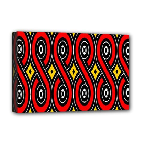 Toraja Traditional Art Pattern Deluxe Canvas 18  X 12   by BangZart