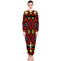 Toraja Traditional Art Pattern Onepiece Jumpsuit (ladies)