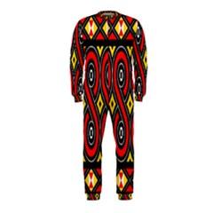 Toraja Traditional Art Pattern Onepiece Jumpsuit (kids)