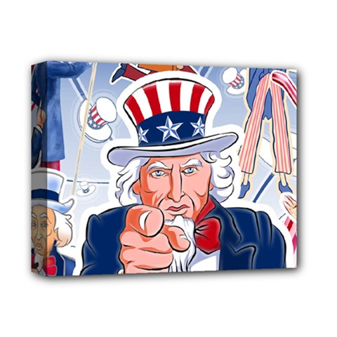 Independence Day United States Of America Deluxe Canvas 14  X 11  by BangZart