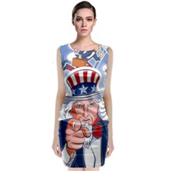 Independence Day United States Of America Classic Sleeveless Midi Dress