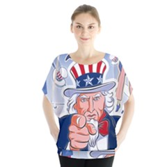 Independence Day United States Of America Blouse by BangZart