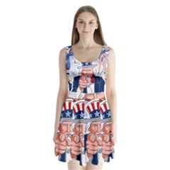 Independence Day United States Of America Split Back Mini Dress
