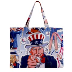 Independence Day United States Of America Medium Tote Bag