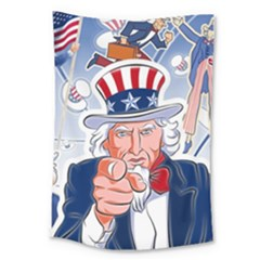 Independence Day United States Of America Large Tapestry