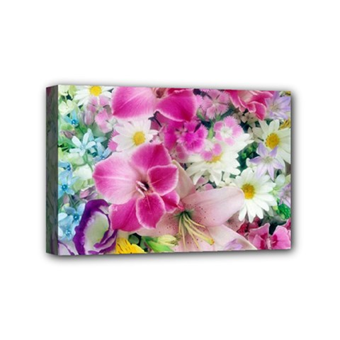 Colorful Flowers Patterns Mini Canvas 6  X 4