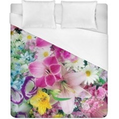 Colorful Flowers Patterns Duvet Cover (california King Size)