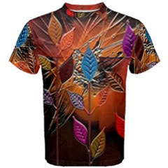 Colorful Leaves Men s Cotton Tee