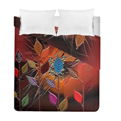 Colorful Leaves Duvet Cover Double Side (full/ Double Size)