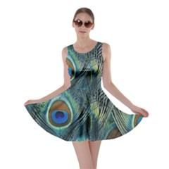 Feathers Art Peacock Sheets Patterns Skater Dress