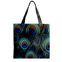 Feathers Art Peacock Sheets Patterns Zipper Grocery Tote Bag