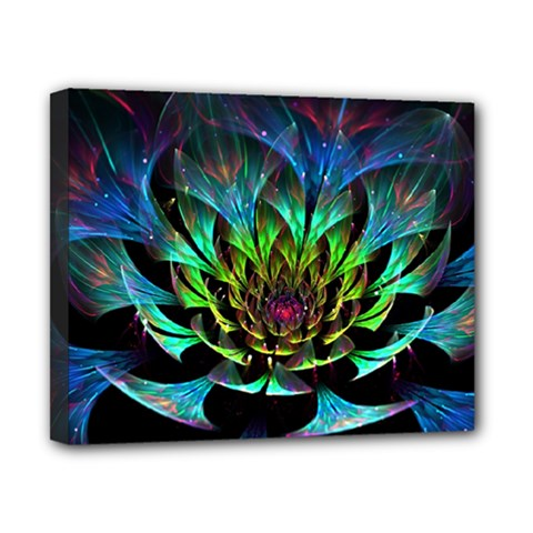 Fractal Flowers Abstract Petals Glitter Lights Art 3d Canvas 10  X 8