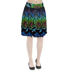 Fractal Flowers Abstract Petals Glitter Lights Art 3d Pleated Skirt