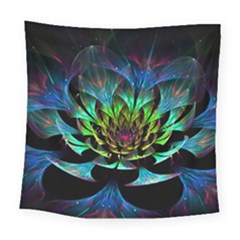Fractal Flowers Abstract Petals Glitter Lights Art 3d Square Tapestry (large) by BangZart