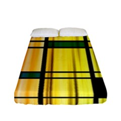 Line Rainbow Grid Abstract Fitted Sheet (full/ Double Size) by BangZart
