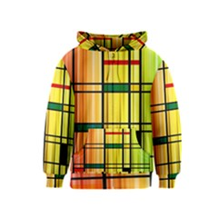Line Rainbow Grid Abstract Kids  Zipper Hoodie