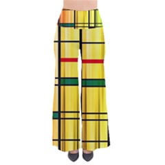 Line Rainbow Grid Abstract Pants