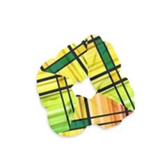 Line Rainbow Grid Abstract Velvet Scrunchie