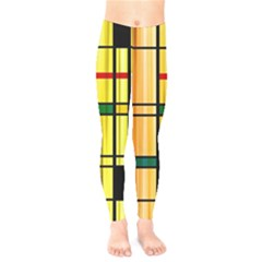 Line Rainbow Grid Abstract Kids  Legging