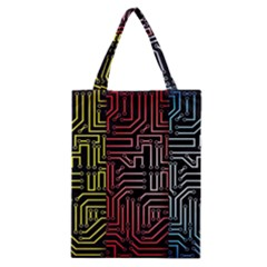 Circuit Board Seamless Patterns Set Classic Tote Bag by BangZart