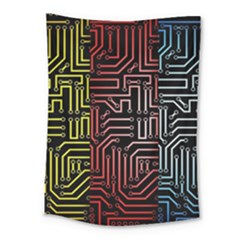 Circuit Board Seamless Patterns Set Medium Tapestry