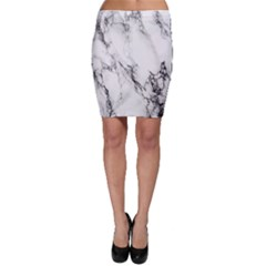 Marble Pattern Bodycon Skirt