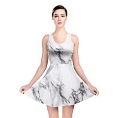 Marble Pattern Reversible Skater Dress