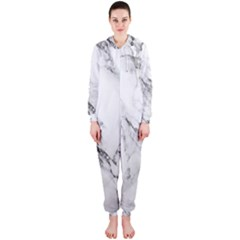 Marble Pattern Hooded Jumpsuit (ladies)