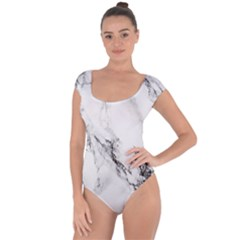 Marble Pattern Short Sleeve Leotard