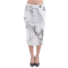 Marble Pattern Midi Pencil Skirt
